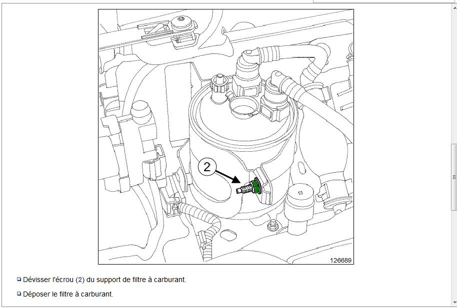 changer filtre  u00e0 gasoil - renault - kangoo - diesel
