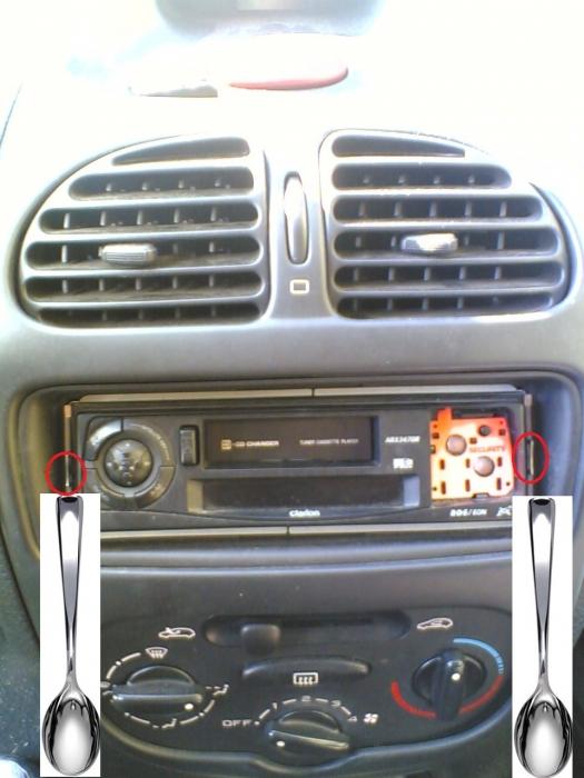 probleme demontage autoradio clarion equipement et confort auto evasion forum auto. Black Bedroom Furniture Sets. Home Design Ideas