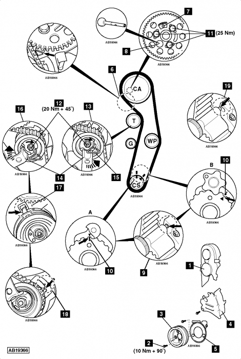sch u00e9ma de distribution - volkswagen - touran - diesel