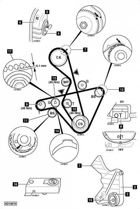 porsche 944 timing marks