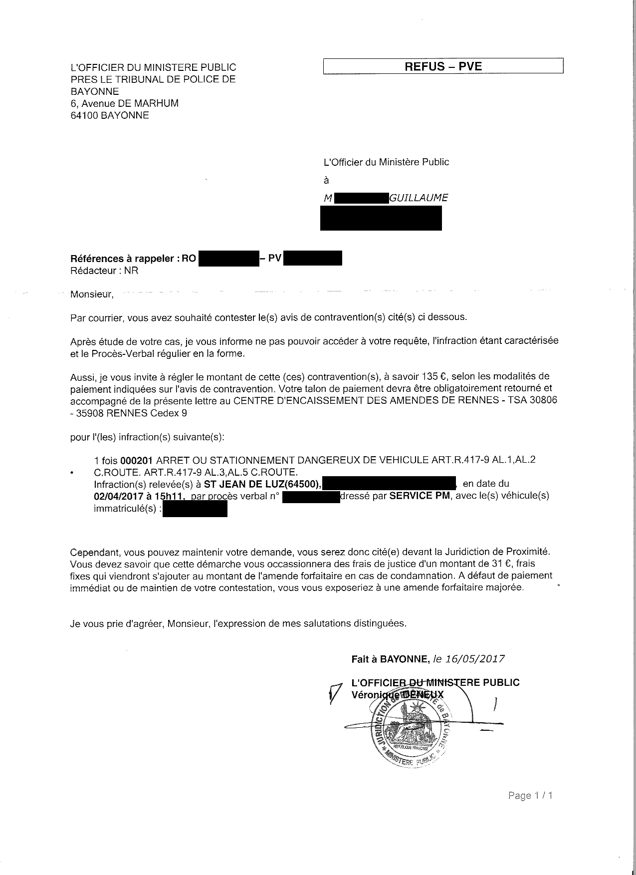 modele de lettre officier du ministere public vogelopvanghoekvanholland. Black Bedroom Furniture Sets. Home Design Ideas