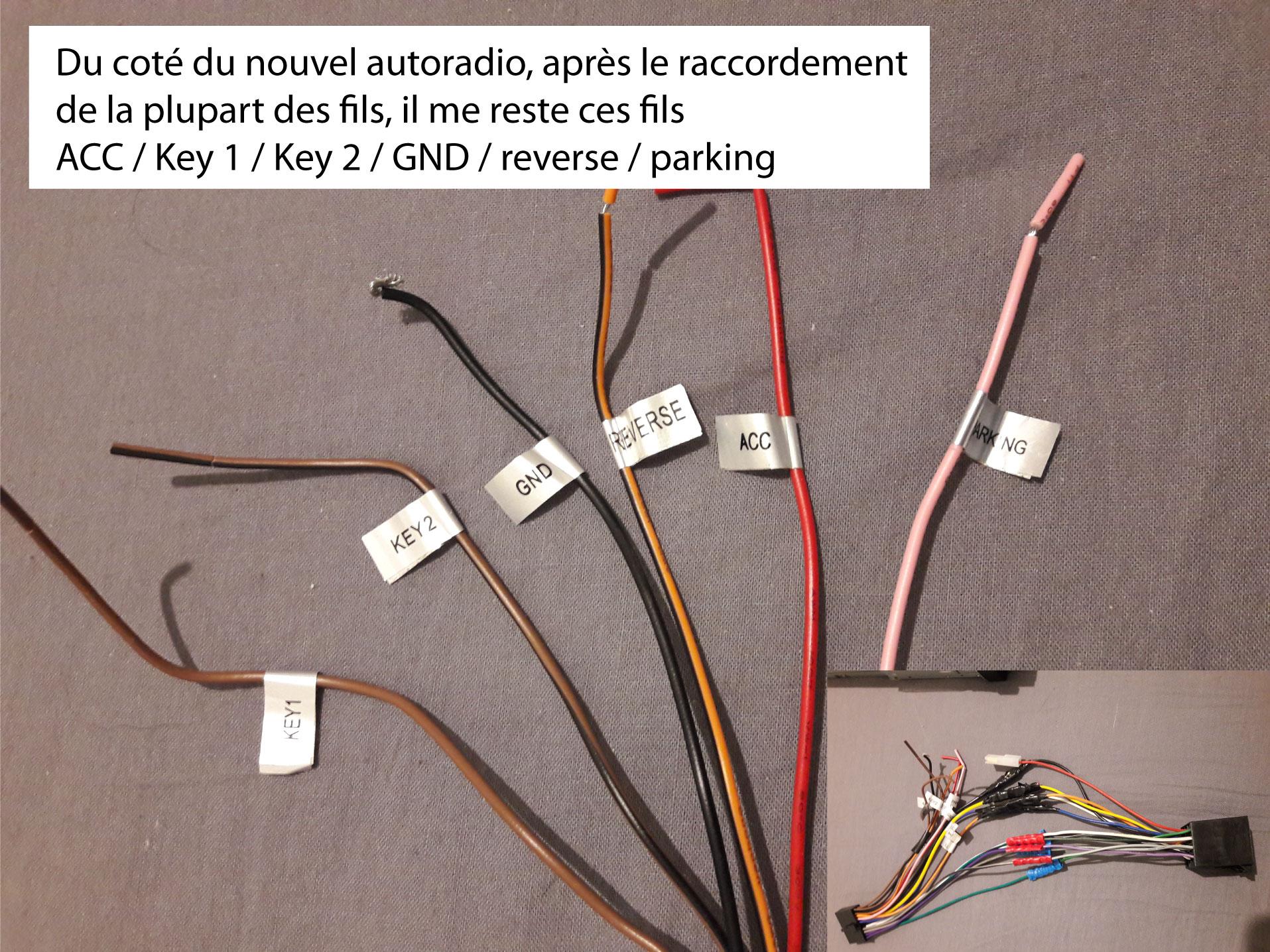 probleme branchement autoradio sur laguna  phase