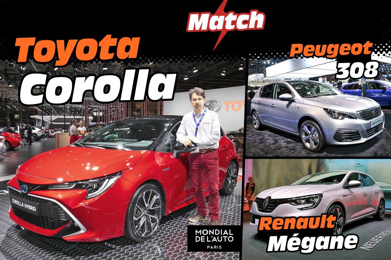 Toyota Corolla Vs Peugeot 308 Et Renault Mégane Le Match