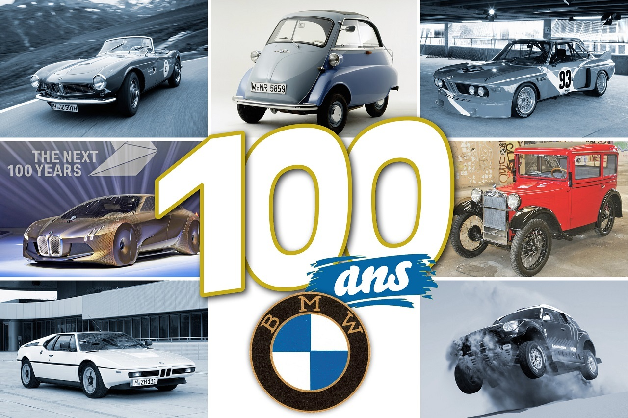 bmw de 1916 2016 retour sur 100 ans d 39 histoire automobile bmw f te ses 100 ans l 39 argus. Black Bedroom Furniture Sets. Home Design Ideas