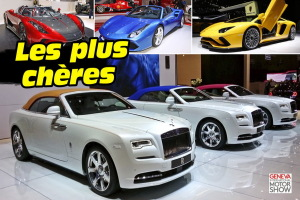 Top 25 des voitures les plus chères à Genève
