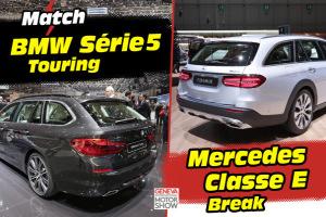 BMW Série 5 Touring (2017) vs Mercedes Classe E