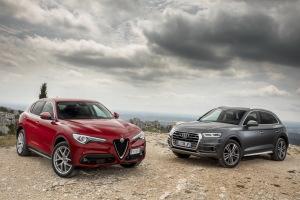 Essai Alfa Romeo Stelvio vs Audi Q5 : le match en images