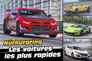 Nürburgring. Top des voitures les plus rapides