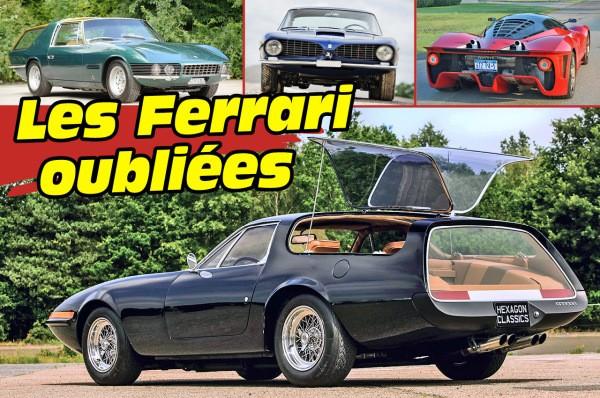Les Ferrari rares et oubliées
