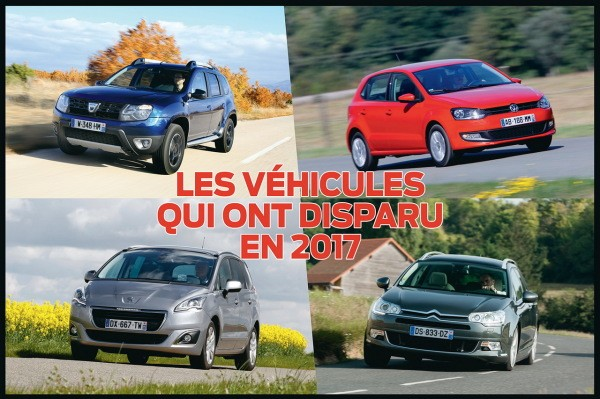 Les voitures qui ont disparu du catalogue en 2017