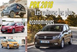PRK 2018 : les voitures les plus économiques en France