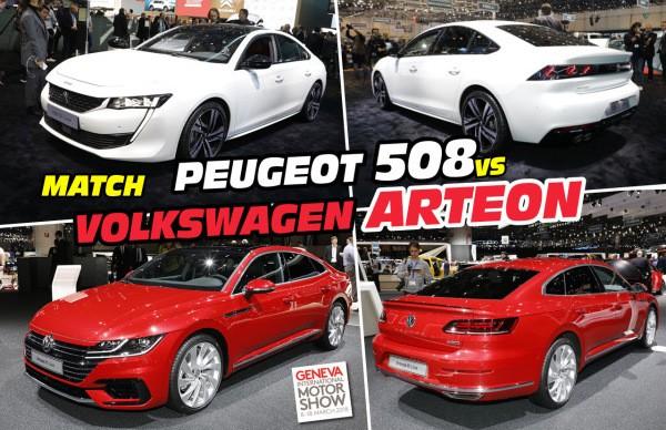 Peugeot 508 vs Volkswagen Arteon : le match des coupés 5 portes
