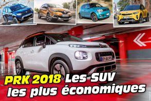 PRK 2018 : Les SUV les plus économiques