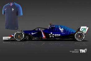 Une Formule 1 aux couleurs de l'Equipe de France