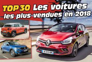 Le Top 30 des voitures les plus vendues en France en 2018