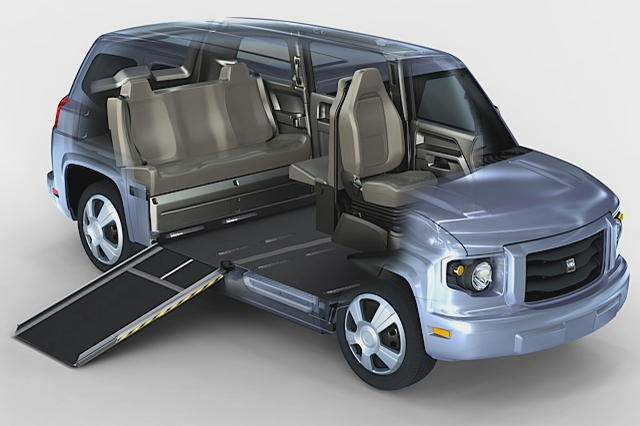 la 1 re voiture qui place le handicap en fauteuil l 39 avant photo 3 l 39 argus. Black Bedroom Furniture Sets. Home Design Ideas