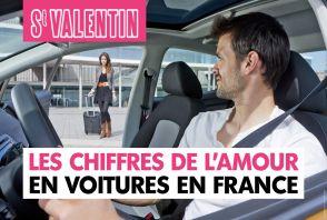 Saint-Valentin : les chiffres de l'amour en voitures