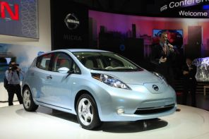 Nissan Leaf, feuille blanche