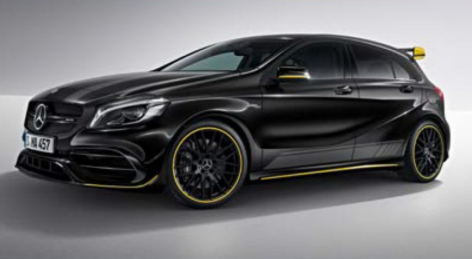 mercedes a 45 amg et cla 45 amg s rie sp ciale yellow night edition photo 2 l 39 argus. Black Bedroom Furniture Sets. Home Design Ideas
