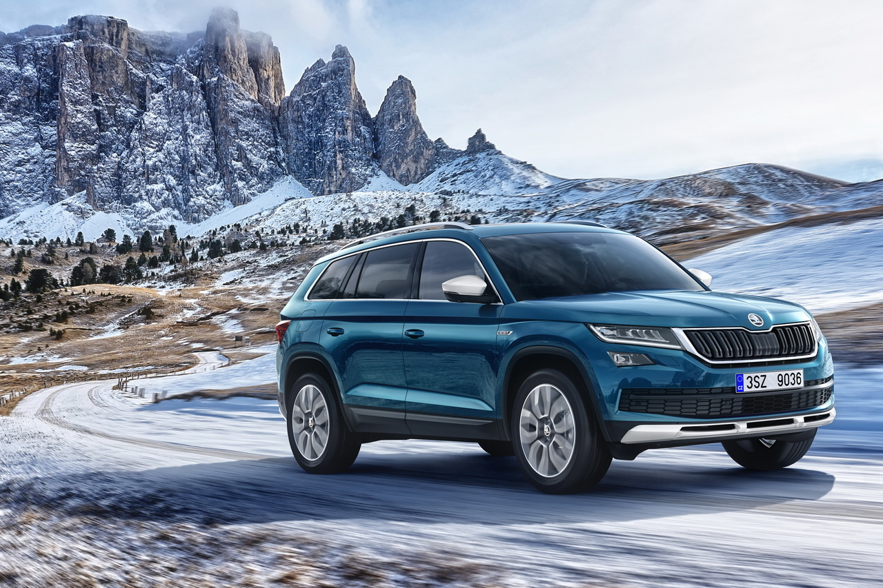 skoda kodiaq scout 2017 le nouveau kodiaq en tenue de baroudeur photo 1 l 39 argus. Black Bedroom Furniture Sets. Home Design Ideas