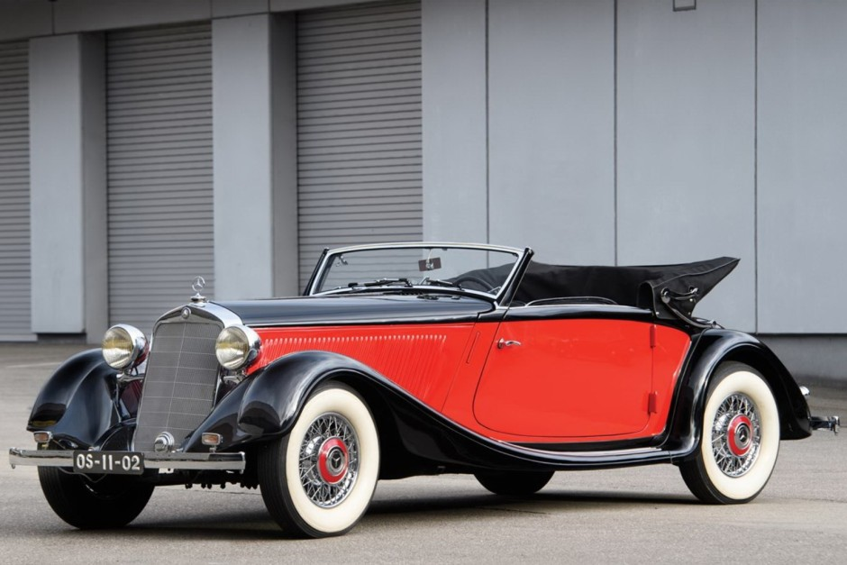 r tromobile 2018 la vente aux ench res rm sotheby 39 s en images mercedes 290 cabriolet a 1937. Black Bedroom Furniture Sets. Home Design Ideas