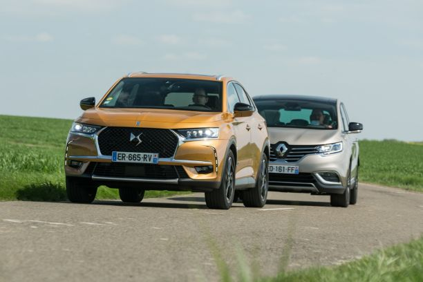 essai comparatif le ds7 crossback affronte le renault espace 5 l 39 argus. Black Bedroom Furniture Sets. Home Design Ideas