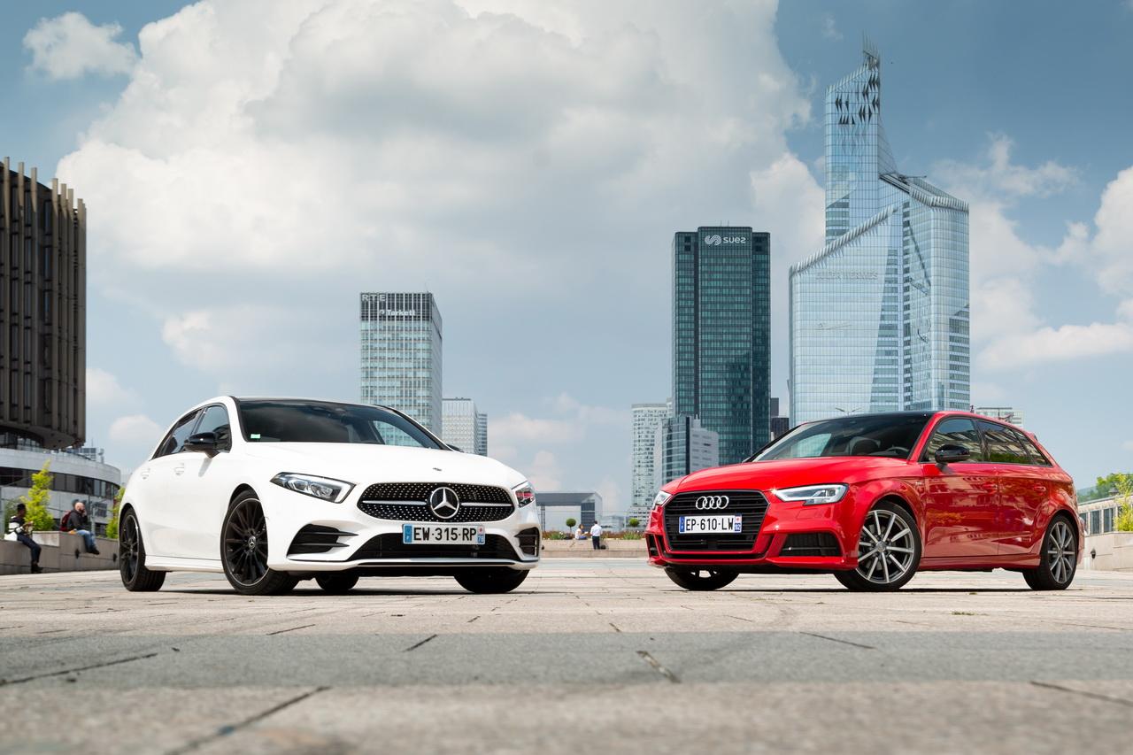 Essai comparatif : la Mercedes Classe A 2018 défie l'Audi A3 Sportback