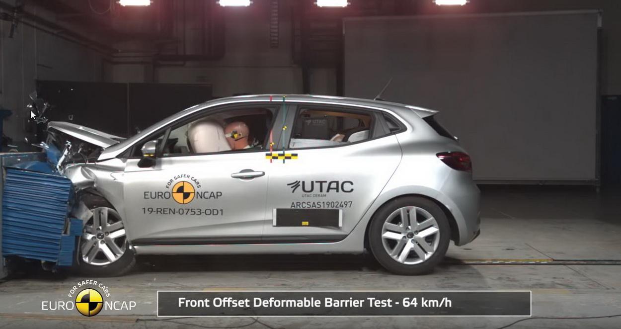 La Renault Clio (2019) reçue 5 sur 5 au crash-test Euro NCAP