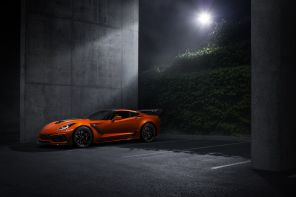 nouvelle Chevrolet Corvette ZR1 2019 vue avant orange