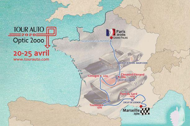 Tour Auto 2020 : le parcours dévoilé