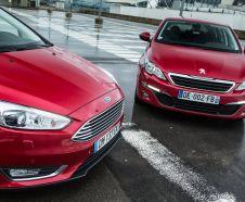 Essai comparatif : la Ford Focus restyl�e affronte la Peugeot 308
