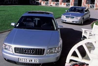 audi a8 w12 et mercedes s600 limousine 12 cylindres. Black Bedroom Furniture Sets. Home Design Ideas