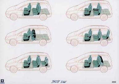 Peugeot 307 sw le break en couleurs l 39 argus for Interieur 307 sw