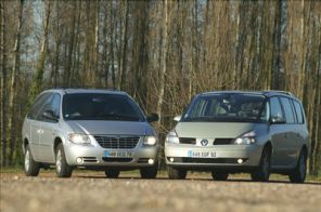 CHRYSLER GRAND VOYAGER STOW'N GO - RENAULT GRAND ESPACE