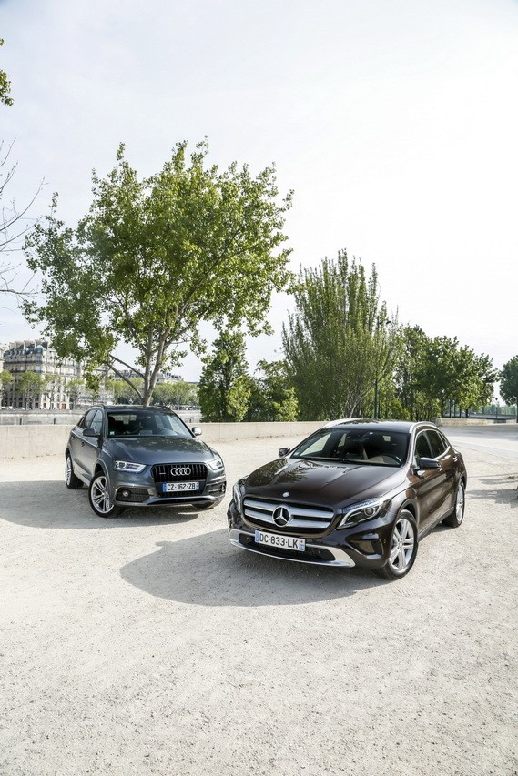 mercedes gla vs audi q3 le match photo 2 l 39 argus. Black Bedroom Furniture Sets. Home Design Ideas