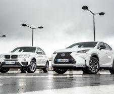 Essai comparatif : le Lexus NX hybride affronte le BMW X4