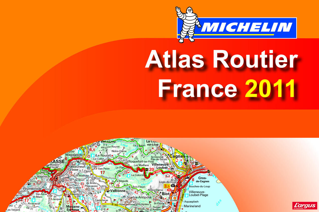 michelin pr sente ses nouveaux atlas routiers 2011 l 39 argus. Black Bedroom Furniture Sets. Home Design Ideas