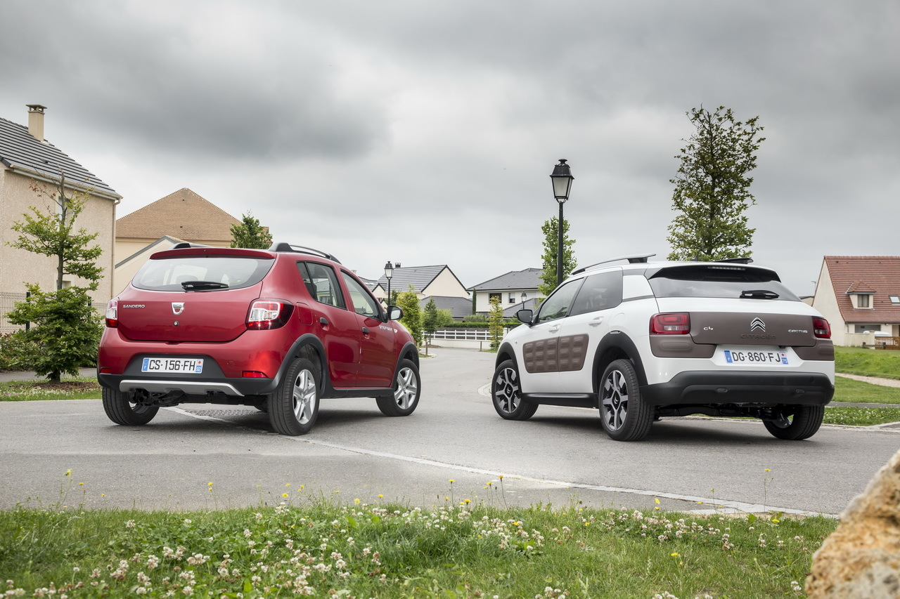essai comparatif citro n c4 cactus vs dacia sandero stepway photo 4 l 39 argus. Black Bedroom Furniture Sets. Home Design Ideas