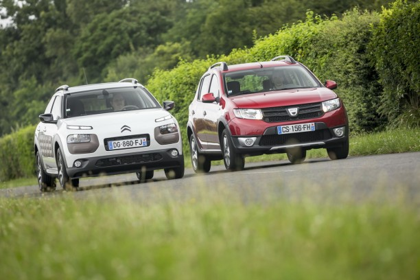 essai comparatif citro n c4 cactus vs dacia sandero stepway l 39 argus. Black Bedroom Furniture Sets. Home Design Ideas