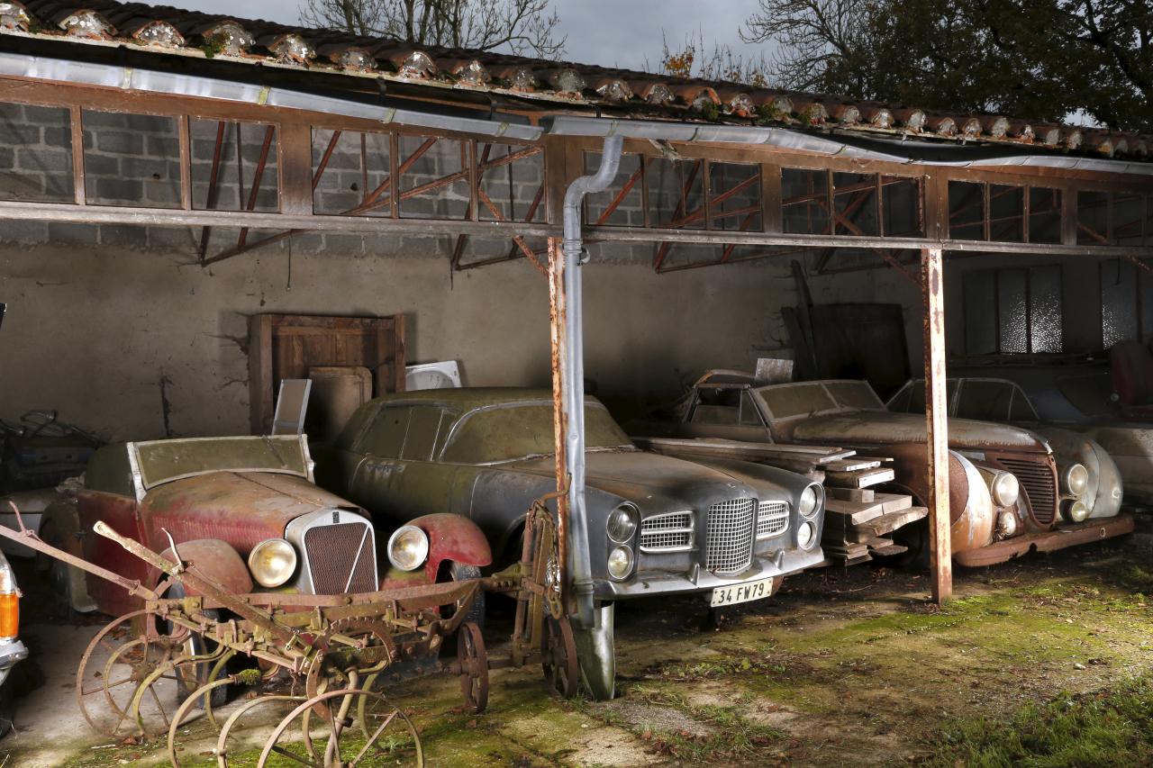 voitures anciennes un tr sor cach vendu aux ench res photo 17 l 39 argus. Black Bedroom Furniture Sets. Home Design Ideas