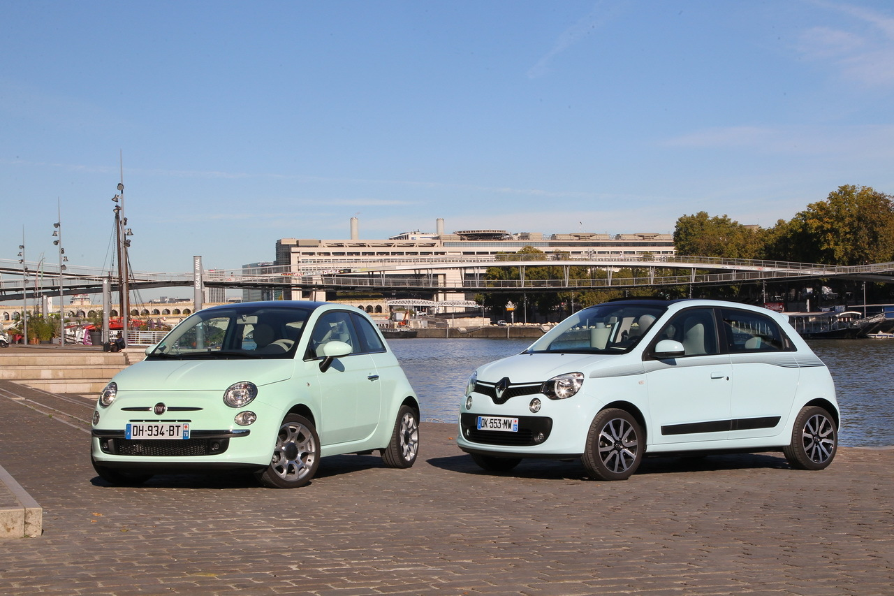 essai comparatif la nouvelle renault twingo affronte la fiat 500 l 39 argus. Black Bedroom Furniture Sets. Home Design Ideas