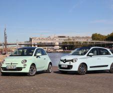 Essai comparatif : la nouvelle Renault Twingo affronte la Fiat 500 !