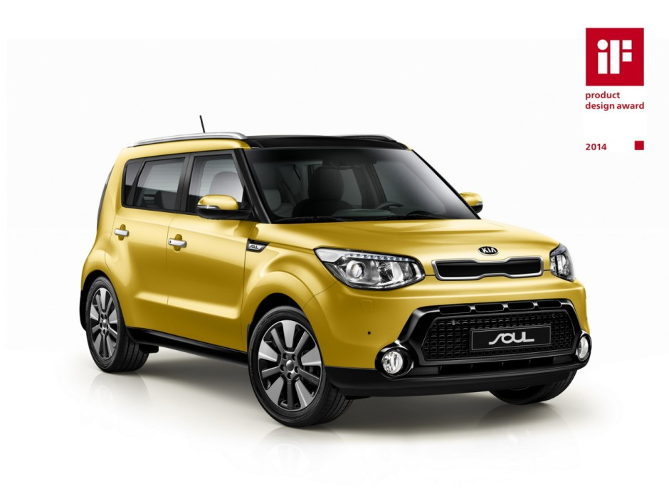le nouveau kia soul 2014 recompens par l 39 if design. Black Bedroom Furniture Sets. Home Design Ideas
