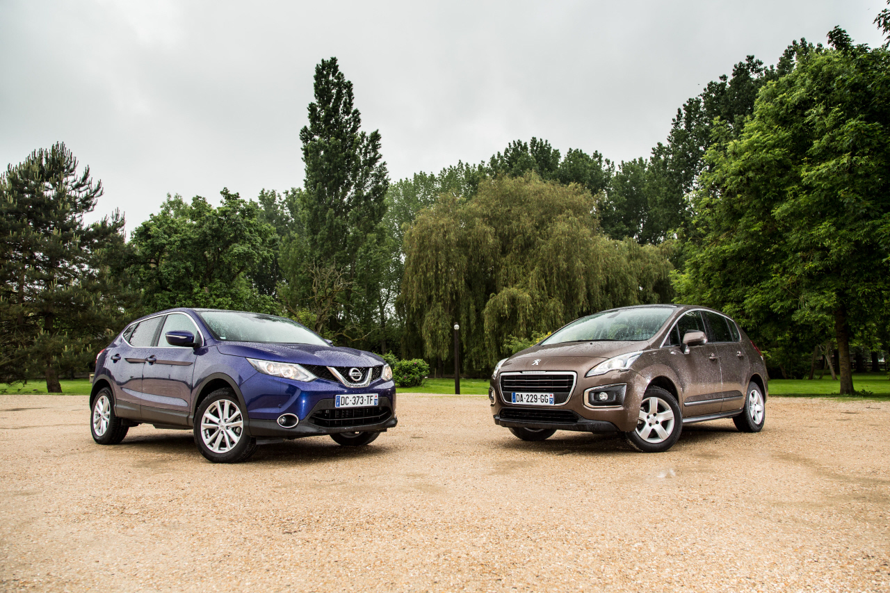 nissan qashqai 1 5 dci 2014 vs peugeot 3008 1 6 hdi le choc des mill photo 32 l 39 argus. Black Bedroom Furniture Sets. Home Design Ideas