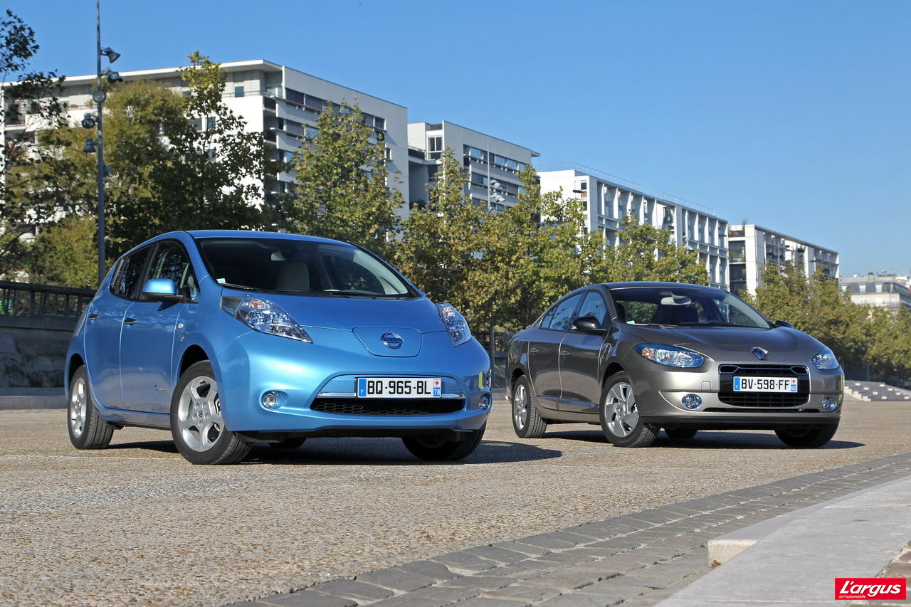 essai nissan leaf vs renault fluence ze comparatif 100 lectrique l 39 argus. Black Bedroom Furniture Sets. Home Design Ideas