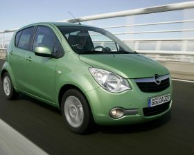 Opel Agila II Vue d'en haut