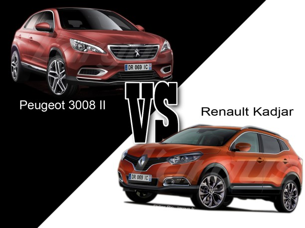 peugeot 3008 ii vs renault kadjar le match des futurs suv l 39 argus. Black Bedroom Furniture Sets. Home Design Ideas