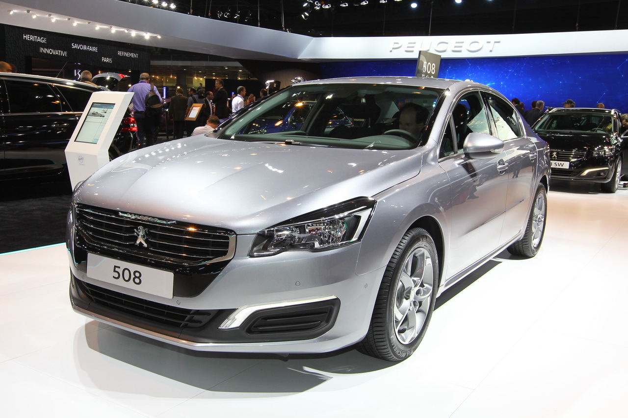la peugeot 508 restyl e en vid o au mondial de l 39 auto 2014 l 39 argus. Black Bedroom Furniture Sets. Home Design Ideas