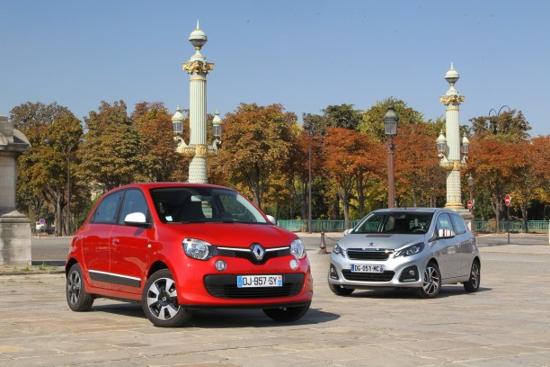essai comparatif renault twingo sce 70 vs peugeot 108 1 0 vti l 39 argus. Black Bedroom Furniture Sets. Home Design Ideas