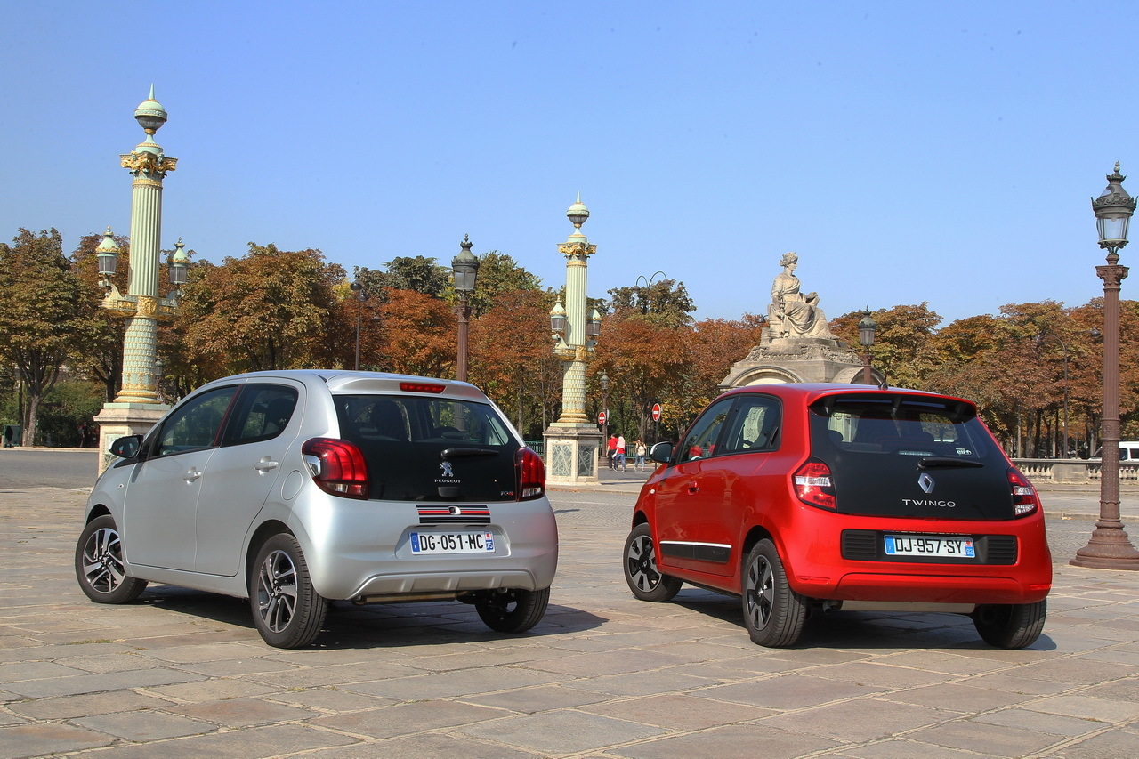 essai comparatif renault twingo sce 70 vs peugeot 108 1 0 vti photo 71 l 39 argus. Black Bedroom Furniture Sets. Home Design Ideas